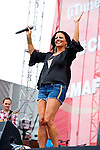 Sara Evans performs on the Chevrolet Riverfront Stage during Day 1 of the 2013 CMA Music Festival in Nashville, Tennessee.