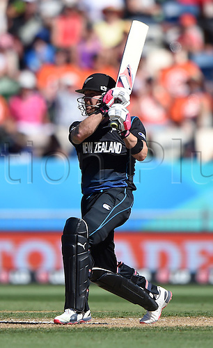 08.03.2015. Napier, New Zealand.  Brendon McCullum during the ICC Cricket World Cup match between New Zealand and Afghanistan at McLean Park in Napier, New Zealand. Sunday 8 March 2015.