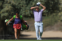 Callum Shinkwin (ENG) on the 3rd during Round 3 of the Omega Dubai Desert Classic, Emirates Golf Club, Dubai,  United Arab Emirates. 26/01/2019<br /> Picture: Golffile | Thos Caffrey<br /> <br /> <br /> All photo usage must carry mandatory copyright credit (© Golffile | Thos Caffrey)