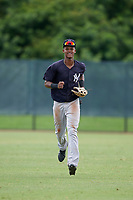 GCL Yankees East Kevin Alcantara (30) during a Gulf Coast League game against the GCL Phillies West on August 3, 2019 at the Carpenter Complex in Clearwater, Florida.  The GCL Phillies West defeated the GCL Yankees East 15-7 in a completion of a game that was originally started on July 26, 2019.  (Mike Janes/Four Seam Images)