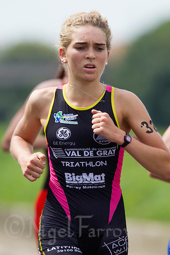 01 SEP 2013 - SARTROUVILLE, FRA - Mathilde Vacoret, racing for Tri Val de Gray, during the run at the women's Grand Prix de Triathlon de Sartrouville in Sartrouville, France (PHOTO COPYRIGHT © 2013 NIGEL FARROW, ALL RIGHTS RESERVED)