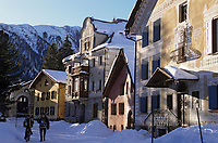 Europe/Suisse/Engadine/Bever: Maisons