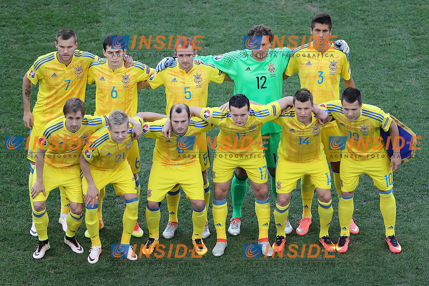 Ukraine line up Formazione Ucraina <br /> Marseille 21-06-2016 Stade Velodrome Football Euro2016 Ukraine - Poland  / Ucraina - Polonia Group Stage Group C. Foto Daniel Chesterton / Panoramic / Insidefoto