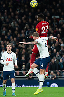 Liverpool's Divock Origi battles for possession with Tottenham's Toby Alderweireld <br /> <br /> Photographer Stephanie Meek/CameraSport<br /> <br /> The Premier League - Tottenham Hotspur v Liverpool - Saturday 11th January 2020 - Tottenham Hotspur Stadium - London<br /> <br /> World Copyright © 2020 CameraSport. All rights reserved. 43 Linden Ave. Countesthorpe. Leicester. England. LE8 5PG - Tel: +44 (0) 116 277 4147 - admin@camerasport.com - www.camerasport.com