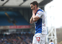 Blackburn Rovers' Craig Conway walks on after missing an attempt at goal<br /> <br /> Photographer Rachel Holborn/CameraSport<br /> <br /> The EFL Sky Bet League One - Blackburn Rovers v Southend United - Saturday 7th April 2018 - Ewood Park - Blackburn<br /> <br /> World Copyright &copy; 2018 CameraSport. All rights reserved. 43 Linden Ave. Countesthorpe. Leicester. England. LE8 5PG - Tel: +44 (0) 116 277 4147 - admin@camerasport.com - www.camerasport.com