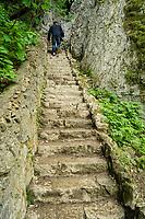 Stone staircase in the Plitvice Lakes NP, Croatia