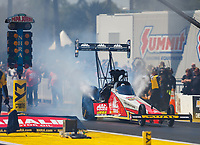 Mar 18, 2017; Gainesville , FL, USA; NHRA top fuel driver Doug Kalitta during qualifying for the Gatornationals at Gainesville Raceway. Mandatory Credit: Mark J. Rebilas-USA TODAY Sports