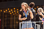 10 July 2015: Kelley O'Hara. The United States Women's National Team was honored with a parade down New York City's Canyon of Heroes for winning the FIFA 2015 Women's World Cup in Canada.