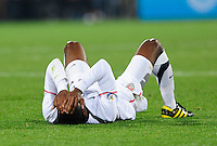 Robbie Findley of the USA looks dejected. Ghana defeated the USA 2-1 in overtime in the 2010 FIFA World Cup at Royal Bafokeng Stadium in Rustenburg, South Africa on June 26, 2010.