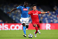 Kalidou Koulibaly of SSC Napoli , Her Chan Hwang of FC Salzburg <br /> Napoli 05-11-2019 Stadio San Paolo <br /> Football Champions League 2019/2020 Group E<br /> SSC Napoli - FC Salzburg<br /> Photo Cesare Purini / Insidefoto