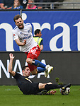 19.05.2019,  GER; 2. FBL, Hamburger SV vs MSV Duisburg ,DFL REGULATIONS PROHIBIT ANY USE OF PHOTOGRAPHS AS IMAGE SEQUENCES AND/OR QUASI-VIDEO, im Bild Manuel Wintzheimer (Hamburg #19) wird von Fabian Schnellhardt (Duisburg #10) gefoult Foto © nordphoto / Witke