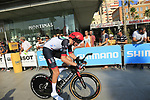 Vegard Stake Laengen (NOR) UAE Team Emirates during Stage 1 of the La Vuelta 2018, an individual time trial of 8km running around Malaga city centre, Spain. 25th August 2018.<br /> Picture: Ann Clarke | Cyclefile<br /> <br /> <br /> All photos usage must carry mandatory copyright credit (© Cyclefile | Ann Clarke)