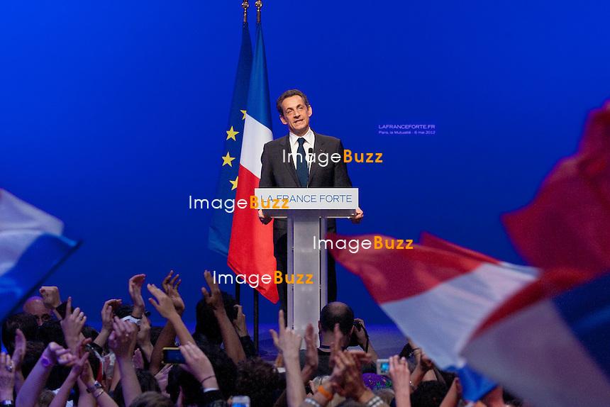 France - Paris, Nicolas Sarkozy loses French presidential election to socialist François Hollande..May 6th, 2012