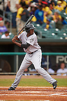 Jackson Generals outfielder Gabby Guerrero (27) at bat during a game against the Montgomery Biscuits on April 29, 2015 at Riverwalk Stadium in Montgomery, Alabama.  Jackson defeated Montgomery 4-3.  (Mike Janes/Four Seam Images)