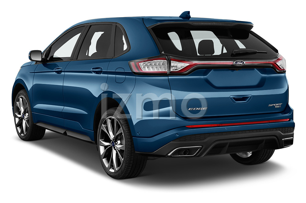 Car pictures of rear three quarter view of 2017 Ford Edge Sport 5 Door SUV angular rear