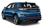Car pictures of rear three quarter view of 2018 Ford Edge Sport 5 Door SUV angular rear