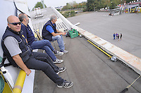- Mesero (Milan) workers of the factory ESAB Welding on the roof of the factory in protest against the closure of the plant....- Mesero (Milano) operai dello stabilimentom ESAB Saldature sul tetto dello stabilimento per protesta contro la chiusura della fabbrica