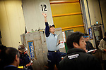 Tokyo, 1st of March 2010 - Tuna at Tsukiji wholesale fish market, biggest fish market in the world. 5:30 a.m, the frozen tunas auctions begin.