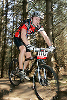 08 APR 2007 - THETFORD, UK - Shaun Wells - 100km race - British Mountain Bike Marathon series Round 1. (PHOTO (C) NIGEL FARROW)