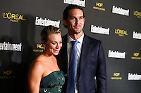 WEST HOLLYWOOD, CA, USA - AUGUST 23: Kaley Cuoco, Ryan Sweeting arrives at the 2014 Entertainment Weekly Pre-Emmy Party held at the Fig & Olive on August 23, 2014 in West Hollywood, California, United States. (Photo by Xavier Collin/Celebrity Monitor)