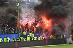 12.05.2018,  GER; 1.FBL Hamburger SV vs Borussia Moenchengladbach, im Bild die Ultras des HSV zuenden Pyrotechnik Foto © nordphoto / Witke