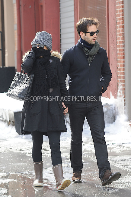 WWW.ACEPIXS.COM . . . . . .January 28, 2011...New York City...Natalie Portman and her fiance Benjamin Millepied head out for lunch on.January 28, 2011 in New York City....Please byline: KRISTIN CALLAHAN - ACEPIXS.COM.. . . . . . ..Ace Pictures, Inc: ..tel: (212) 243 8787 or (646) 769 0430..e-mail: info@acepixs.com..web: http://www.acepixs.com .