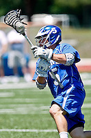 April 30, 2011:   Jacksonville Dolphins midfielder Culver Bradbury (5) during lacrosse action between the Duke Blue Devils and Jacksonville Dolphins at D. B. Milne Field in Jacksonville, Florida.  Duke defeated Jacksonville 10-6.