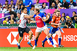 Chile vs Hong Kong during the HSBC World Rugby Sevens Series Qualifier match as part of the HSBC Hong Kong Rugby Sevens 2018 on April 7, 2018 in Hong Kong, Hong Kong. Photo by Marcio Rodrigo Machado / Power Sport Images