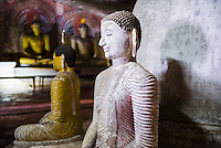 Dambulla Cave Temples, Buddha in cave 2 (Cave of the Great Kings or Temple of the Great King), Dambulla, Sri Lanka, Asia. This is a photo of a Buddha in cave 2 (Cave of the Great Kings or Temple of the Great King) at Dambulla Cave Temples, Dambulla, Sri Lanka, Asia.  Dambulla Cave Temples, a series of five cave temples are the most popular place to visit in Dambulla.