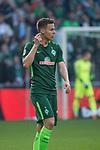 15.04.2018, Weser Stadion, Bremen, GER, 1.FBL, Werder Bremen vs RB Leibzig, im Bild<br /> <br /> 1 zu 0 Niklas Moisander (Werder Bremen #18)<br /> <br /> <br /> <br /> <br /> <br /> Foto &copy; nordphoto / Kokenge