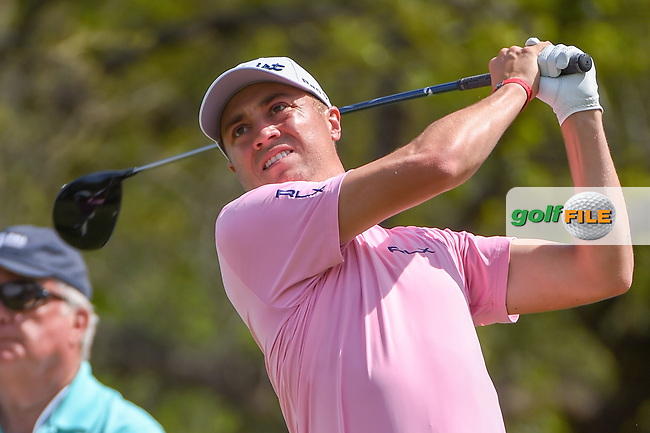 Justin Thomas (USA) watches his tee shot on 12 during day 1 of the WGC Dell Match Play, at the Austin Country Club, Austin, Texas, USA. 3/27/2019.<br /> Picture: Golffile | Ken Murray<br /> <br /> <br /> All photo usage must carry mandatory copyright credit (© Golffile | Ken Murray)