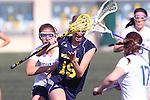 Santa Barbara, CA 02/18/12 - Melissa Oddo (Michigan #19) in action during the Michigan-BYU overtime period at the 2012 Santa Barbara Shootout.  Michigan defeated BYU 11-10.