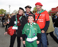 RC Toulon fans enjoying the atmosphere at Twickenham before kick off