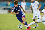 Yuya Osako (JPN), <br /> JUNE 19, 2014 - Football /Soccer : <br /> 2014 FIFA World Cup Brazil <br /> Group Match -Group C- <br /> between Japan 0-0 Greece <br /> at Estadio das Dunas, Natal, Brazil. <br /> (Photo by YUTAKA/AFLO SPORT)