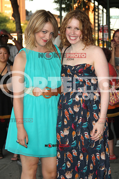 NEW YORK, NY - JULY 25: Abby Elliott and Vanessa Bayer at 'The Campaign' New York Premiere at Sunshine Landmark on July 25, 2012 in New York City. © RW/MediaPunch Inc. /NortePhoto.com<br />