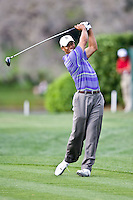 March 28, 2009, Arnold Palmer Invitation. Tiger Woods hits an iron shot from the 15th fairway  during third round play  at Bay Hill Golf Club in Orlando, Florida...