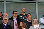 14th August 2013 - Cardiff - UK : Wales v Republic of Ireland - Vauxhall International Friendly at Cardiff City Stadium : Wales Assistant Coach John Hartson watching from the stands.