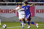 (L-R) Elisa Bartoli (ITA), Kozue Ando (JPN), MAY 28, 2015 - Football / Soccer : KIRIN Challenge Cup 2015 match between Japan 1-0 Italy at Minaminagano Sports Park, <br /> Nagano, Japan. (Photo by Yusuke Nakansihi/AFLO SPORT)