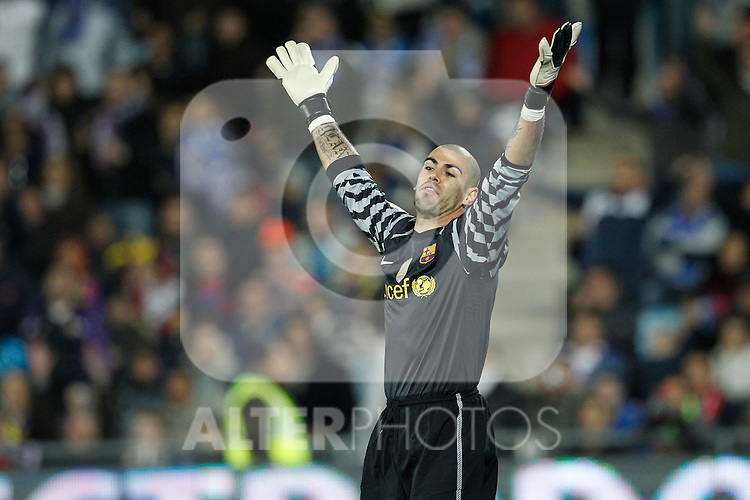GETAFE, Madrid (07/11/2010).- Spanish League match Getafe vs Barcelona. FC Barcelona's Victor Valdes...Photo: Cesar Cebolla / ALFAQUI
