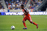 Joao Plata (7) of Toronto FC. The New York Red Bulls defeated Toronto FC 5-0 during a Major League Soccer (MLS) match at Red Bull Arena in Harrison, NJ, on July 06, 2011.