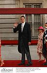 El jugador de baloncesto Pau Gasol asistiendo a la boda del principe Felipe de Borbon y Letizia Ortiz en la catedral de la Almudena. Madrid, 22/05/04..Basketball player Pau Gasol attending to the wedding of Prince Felipe of Borbon and Letizia Ortiz at Almudena Cathedral. Madrid, 05/22/04.