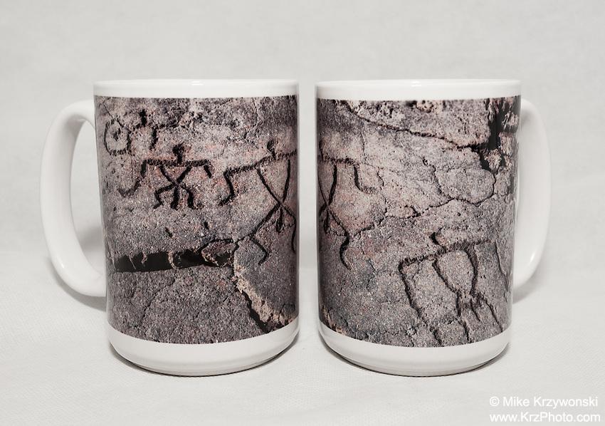 15 oz. Mug   - Hawaiian Petroglyphs - $25 + $6 shipping.<br /> Contact me to order.