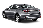 Car pictures of rear three quarter view of a 2018 Mazda Mazda6 Grand Touring Reserve 4 Door Sedan angular rear