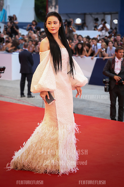 Zhang Yan at the Opening Ceremony, premiere of Everest at the 2015 Venice Film Festival.<br /> September 2, 2015  Venice, Italy<br /> Picture: Kristina Afanasyeva / Featureflash