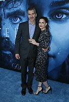 "LOS ANGELES, CA July 12- David Benioff, Amanda Peet,  At Premiere Of HBO's ""Game Of Thrones"" Season 7 at The Walt Disney Concert Hall, California on July 12, 2017. Credit: Faye Sadou/MediaPunch"