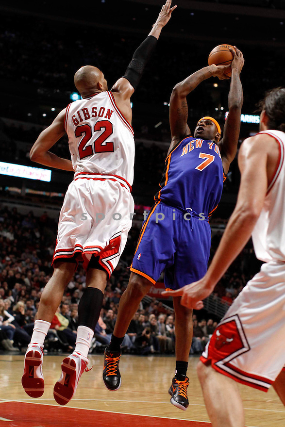 AL HARRINGTON, in action during the New York Knicks game against the Chicago Bulls on December 17, 2009 in Chicago, Illinois. Bulls won 98-89..