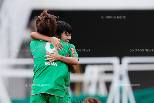 (L to R) <br /> Mina Tanaka, <br /> Yu Nakasato (Beleza), <br /> OCTOBER 31, 2015 - Football / Soccer : <br /> Plenus Nadeshiko League 2015 <br /> between NTV Beleza 2-0 Jef Chiba Ladies <br /> at Komazawa Olympic Park Stadium, Tokyo, Japan. <br /> (Photo by AFLO SPORT)