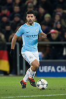 Manchester City's Sergio Aguero in action <br /> <br /> Photographer Craig Mercer/CameraSport<br /> <br /> UEFA Champions League Round of 16 First Leg - Basel v Manchester City - Tuesday 13th February 2018 - St Jakob-Park - Basel<br />  <br /> World Copyright &copy; 2018 CameraSport. All rights reserved. 43 Linden Ave. Countesthorpe. Leicester. England. LE8 5PG - Tel: +44 (0) 116 277 4147 - admin@camerasport.com - www.camerasport.com