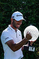 Robin Roussel (FRA) gets excited at receiving the trophy after the final round of the Hauts de France-Pas de Calais Golf Open, Aa Saint-Omer GC, Saint- Omer, France. 16/06/2019<br /> Picture: Golffile | Phil Inglis<br /> <br /> <br /> All photo usage must carry mandatory copyright credit (© Golffile | Phil Inglis)