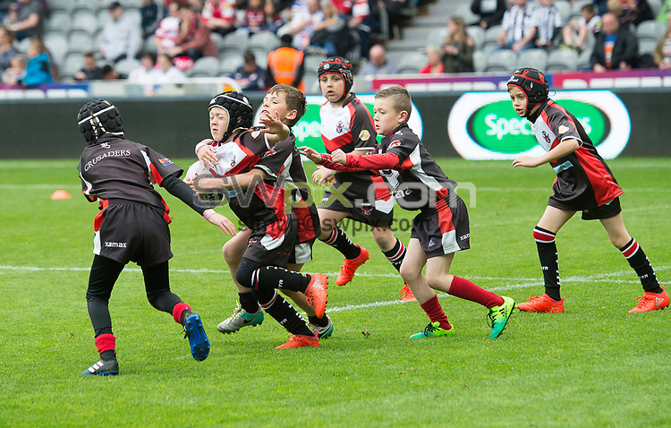 Picture by Allan McKenzie/SWpix.com - 20/05/2017 - Rugby League - Dacia Magic Weekend - St James' Park, Newcastle, England - The brief, Sky Try.